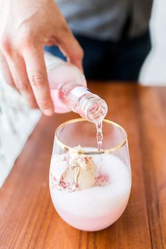 Ice cream rosé float