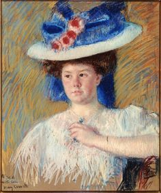 Portrait of Helen Sears in 1907 by Mary Cassatt  (an oil painting of a photographer in Impressionist style)