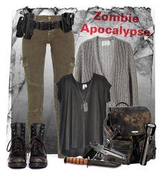 """Zombie Apocalypse"" by fashion-film-fun ❤ liked on Polyvore featuring 3.1 Phillip Lim, Current/Elliott, Ash, Wilt, Werkstatt:München, Roxy and Gap"