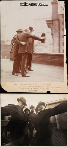 Then who took the picture of them taking a selfie? First Selfies Ever Taken - Around 1920