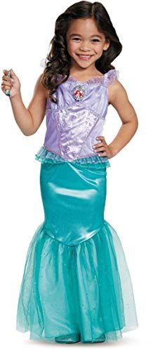 fff48fb35c44 Disney Princess The Little Mermaid Ariel Dress Deluxe Costume Medium 7-8