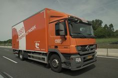 TNT 'The People Network' parcel and package delivery vehicle