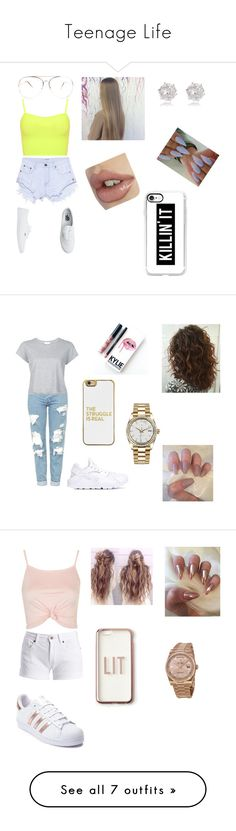 """""""Teenage Life"""" by caira-williams ❤ liked on Polyvore featuring WearAll, OneTeaspoon, Vans, Casetify, River Island, Topshop, RE/DONE, NIKE, BaubleBar and Rolex"""