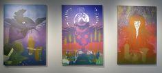 Alge Julija Kavaliauskaite: ilta-aamiainen: Alejandro Jodorowsky. Aidan maalaaminen on iso etu; Salvador Dali. Musta väistyy sinisen tieltä; Gnosis maito, 2016 - Kuvan Kevät 2016