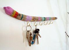 painted wood key hook by pepabarco