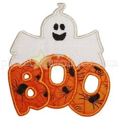 Ghost Boo Applique