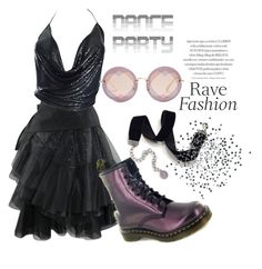 """""""NYE Dance Party"""" by jez-alex ❤ liked on Polyvore featuring Dr. Martens, Paco Rabanne, Sweet Romance and Miu Miu"""