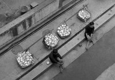 Fan Ho :: Twins, from series Living Theater Fan Ho, Geometric Construction, Photography Lessons, Food Photography, Street Photographers, Photo Displays, Vintage Photographs, Fascinator, Hong Kong