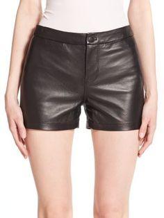 J BRAND Mila Leather Shorts. #jbrand #cloth #shorts