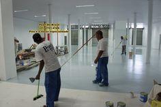 Pintura Epóxi, aplicação de concreto polido e piso epóxi.