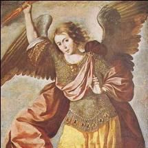 "Zadkiel or Hesediel (Heb. צדקיאל Tzadqiel, ""Righteousness of God"") is the archangel of freedom, benevolence, mercy, and the Patron Angel of all who forgive, also known as Sachiel, Zedekiel, Zadakiel, Tzadkiel, and Zedekul. Rabbinical tradition considers him to be the angel of mercy.   Zadkiel is one of two standard bearers (along with Jophiel) who follow directly behind Michael as the head archangel enters battle. Zadkiel is associated with the color violet."