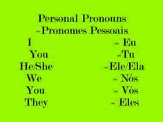 Los pronombres personales en portugués. / *How to learn Portuguese- Lesson…