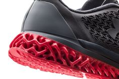 The 3D printed midsole on the Under Armour Archatech shoe.