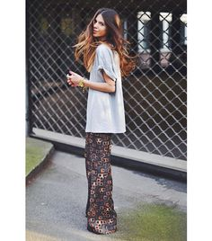 22 Trendy Ideas For Jewerly Boho Chic Shirts Best Street Style, Street Style Outfits, Looks Street Style, Mode Outfits, Looks Style, Style Me, Trendy Style, Trendy Hair, Estilo Hippie Chic