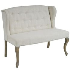 Adrianna Wingback Button-tufted Fabric Loveseat - Christopher Knight Home