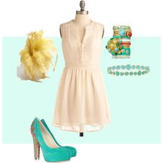 """""""Turquoise/Yellow - Spring"""" by goldkehlchen on Polyvore"""