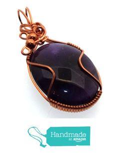 Amethyst Gemstone Copper Wire Wrapped Pendant from Angelleesa Designs https://www.amazon.co.uk/dp/B01LY0S25N/ref=hnd_sw_r_pi_dp_MYL7xb99EG0WK #handmadeatamazon