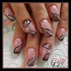 and Beautiful Nail Art Designs Fingernail Designs, Pink Nail Designs, Beautiful Nail Designs, Beautiful Nail Art, Nails Design, Nail Art Flower Designs, Flower Design Nails, Trendy Nail Art, Stylish Nails