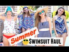Summer Swimsuit Haul..modest swimwear that is still cute!  #brooklynandbailey #youtube #video