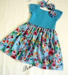 Discover thousands of images about Brenda Tigano-Thomas Pacheco This Pin was discovered by Оль Likes, 42 Comments - Nes How to Crochet Baby Toddler Gi Handmade by Anca Crochet Toddler, Crochet Girls, Crochet Baby Clothes, Crochet For Kids, Crochet Dresses, Crochet Yoke, Crochet Fabric, Baby Knitting Patterns, Baby Patterns