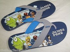 Bnwt  #weird fish  #james pond flip #flops   size 11  blue,  View more on the LINK: 	http://www.zeppy.io/product/gb/2/191533327207/
