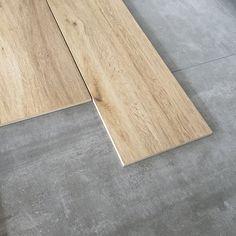Keramisch parket met betonlook vloertegels d&j beton en Marazzi treverk trend
