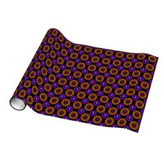Halloween Skull pattern glossy wrapping paper