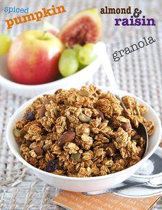 Spiced Pumpkin, Almond and Raisin Granola | The Breakfast Drama Queen