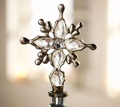 Decor Look Alikes | Get set of three for less than the price of one Pottery Barn Crystal Snowflake Bottle Stopper