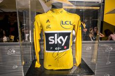 The Tour de France Yellow Jersey, won for the fourth time by Sky's Chris Froome.