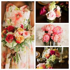 Coral, blush, wine,peach. Bouquet, centerpieces, Flowers by Victorian Gardens and photos by Alea Lovely