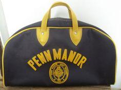 Vintage Gym Bag Penn Manor Pennsylvania Retro by JunkyardElves, $75.00