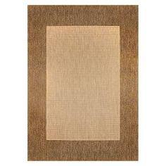 "Worchester 5'3""x7'5"" Rectangular Bordered Patio Rug - Chestnut/Sand : Target"