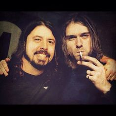 """Dave Grohl said that Kurt Cobain """"kissed him on the face"""" when Dave played Kurt the first Foo Fighters demo. The latest episode of Sonic Highways saw Grohl open Music Love, Music Is Life, Rock Music, My Music, Nirvana Kurt Cobain, Dave Grohl Kids, Foo Fighters Nirvana, Donald Cobain, Royal Blood"""