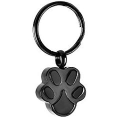 HooAMI Pet Cremation Urn Keepsakes Crystal Puppy Dog Paw Pill Box Case Drug Holder Keychain Jewelry