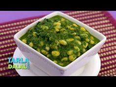 Palak Corn Subzi by Tarla Dalal Corn Recipes, Lunch Recipes, Indian Food Recipes, Gourmet Recipes, Healthy Recipes, Ethnic Recipes, Recipies, Subzi Recipe