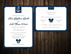 Disney Cruise Wedding Invitations by Great Heights Paper Hearts 3