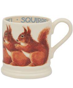 Red Squirrel Half Pint Earthenware Mug