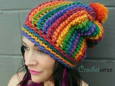 Corduroy Ridge Tunisian Slouchy Hat. Perfect colors. Perfect gift for my friend...