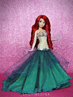 Disney Barbie Dolls, Ariel Doll, Barbie Fashionista Dolls, Disney Princess Dolls, Disney Princess Dresses, Ariel Disney, Princess Luna, Barbie Dress, Barbie Clothes
