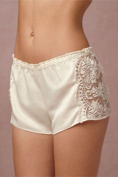 BHLDN's Flora Nikrooz Candlelight Shorts in Creme