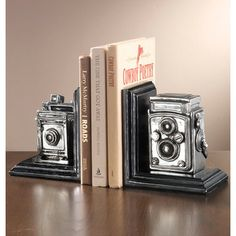 Antique Camera Book Ends Set/2