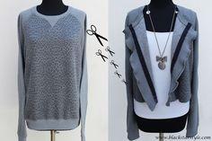 Black Star Style: Trasformare una felpa in una giacca romantica. Ecco come.
