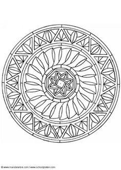 Kleurplaat mandala-1602k