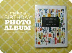 Family album to send on their birthday or for Christmas