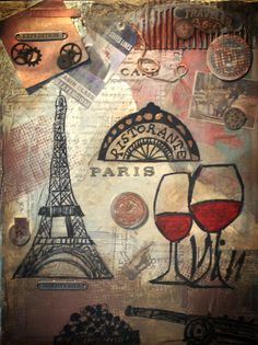 Paris Expedition. Mixed Media Art