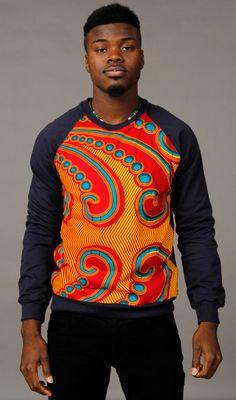SoTribal Ankara Sweatshirt  African Wax Print Unisex by SoTribal