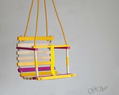 Personalized Wooden Handmade Swing Baby Swing by GreenWoodLT