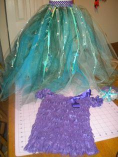 DIY Halloween Mermaid costume for my Daughter!!