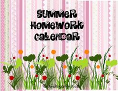 Summer Vacation is coming! This easy to make calendar offers ideas for parents to keep academic skills sharp during summer months in a very easy way.